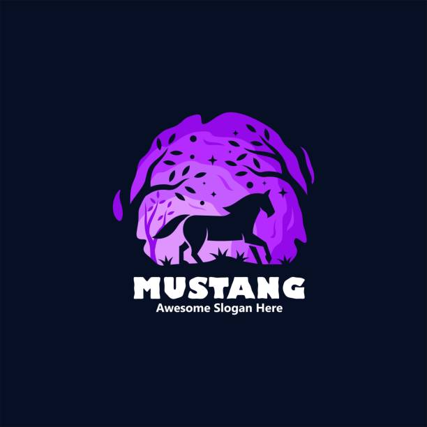 Vector Illustration Mustang Silhouette Style. Vector Illustration Mustang Silhouette Style. stallion stock illustrations