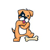 Vector Illustration My Bones Mascot Cartoon Style.