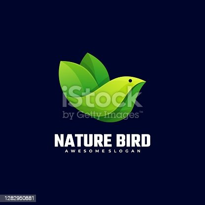 istock Vector Illustration Nature Bird Gradient Colorful Style. 1282950881
