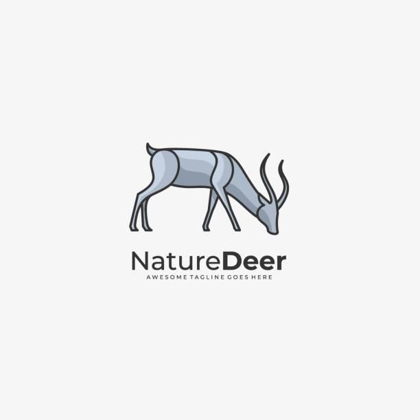 ilustraciones, imágenes clip art, dibujos animados e iconos de stock de ilustración vectorial naturaleza de los ciervos línea de arte estilo. - hueva