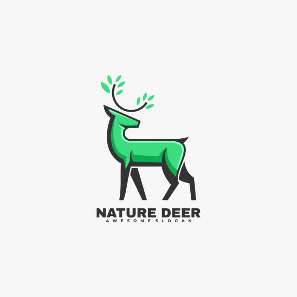 Vector Illustration Nature Deer Mascot Cartoon Style. Vector Illustration Nature Deer Mascot Cartoon Style. hoofed mammal stock illustrations
