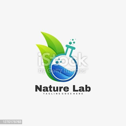 istock Vector Illustration Nature Lab Gradient Colorful Style. 1270175763