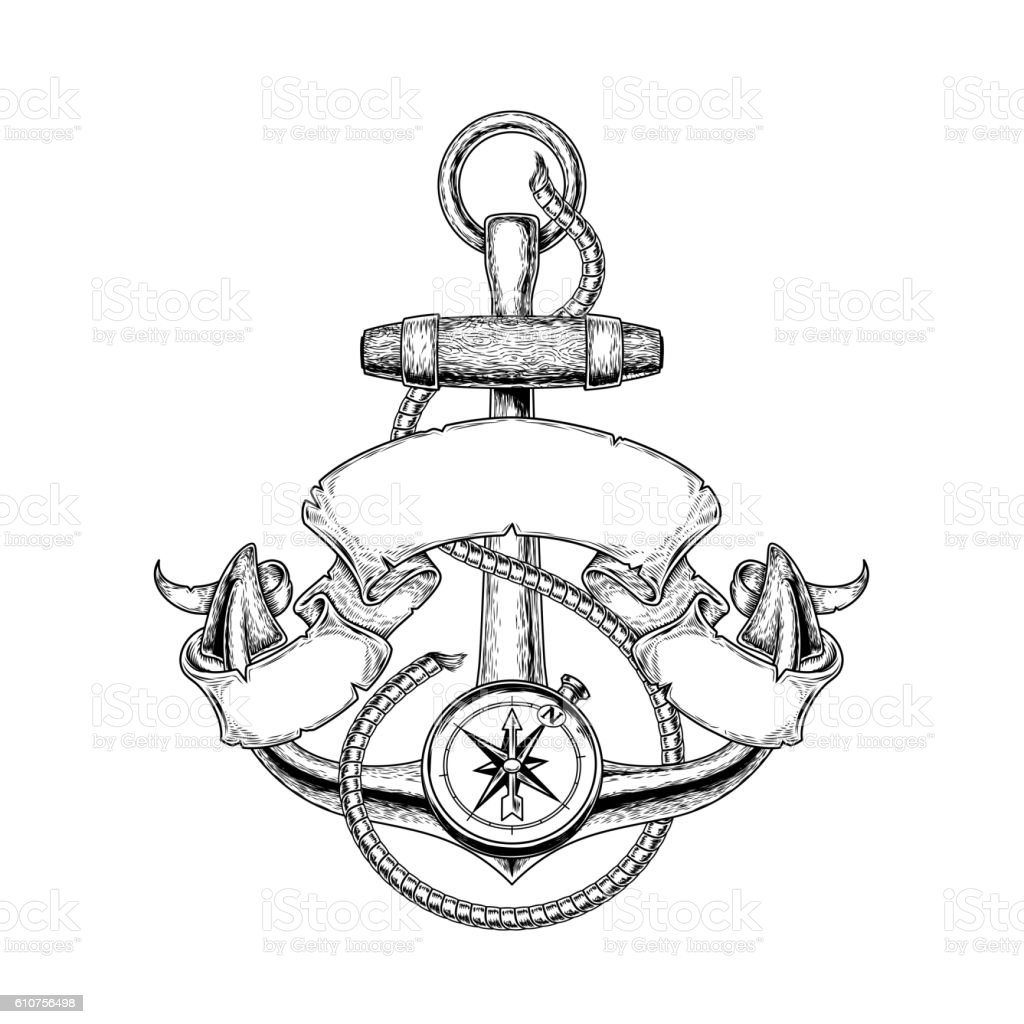 Vector illustration nautical anchor – Vektorgrafik