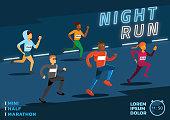 istock vector illustration night run marathon poster 868044800
