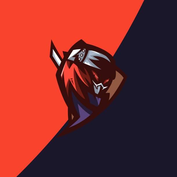 ilustrações de stock, clip art, desenhos animados e ícones de vector illustration ninja e sport and sport style. - japanese font