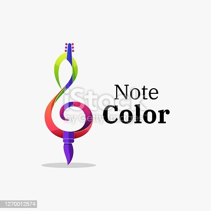 Vector Illustration Note Color Gradient Colorful Style.