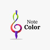 istock Vector Illustration Note Color Gradient Colorful Style. 1270012574
