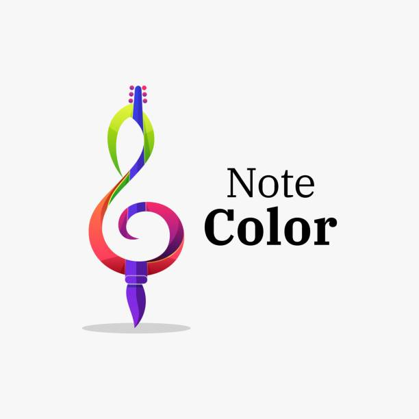stockillustraties, clipart, cartoons en iconen met vector illustratie opmerking kleur verloop kleurrijke stijl. - vierkant compositie