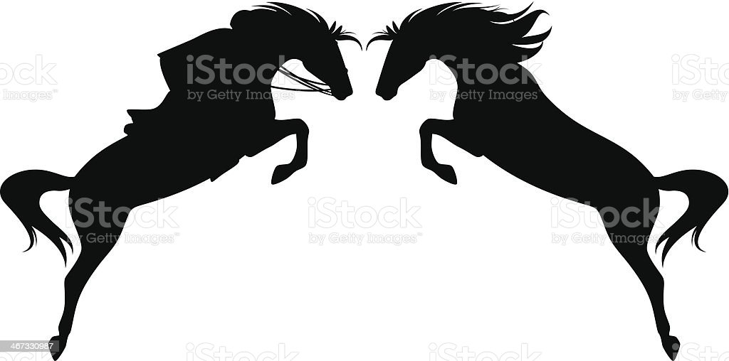 royalty free black horse jumping clip art vector images rh istockphoto com horse jumping outline clipart horse jumping clipart free