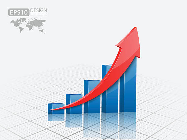 Vector illustration of 3d graph Vector illustration of 3d graph sales occupation stock illustrations