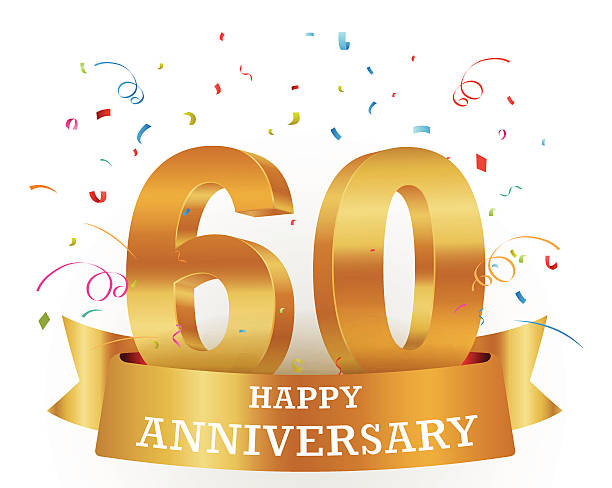Vector illustration of a 60 anniversary template vector art illustration