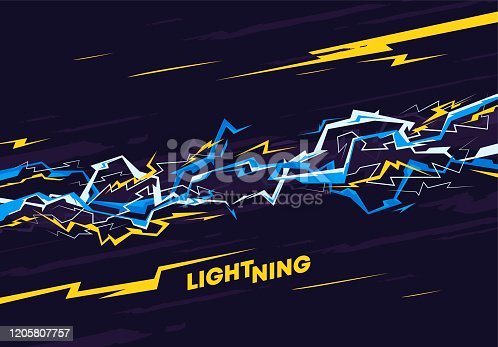istock Vector illustration of a background image with energy lightning 1205807757