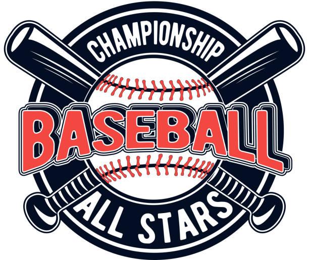 Vector illustration of a baseball logo for your design, print or web on a white background vector art illustration