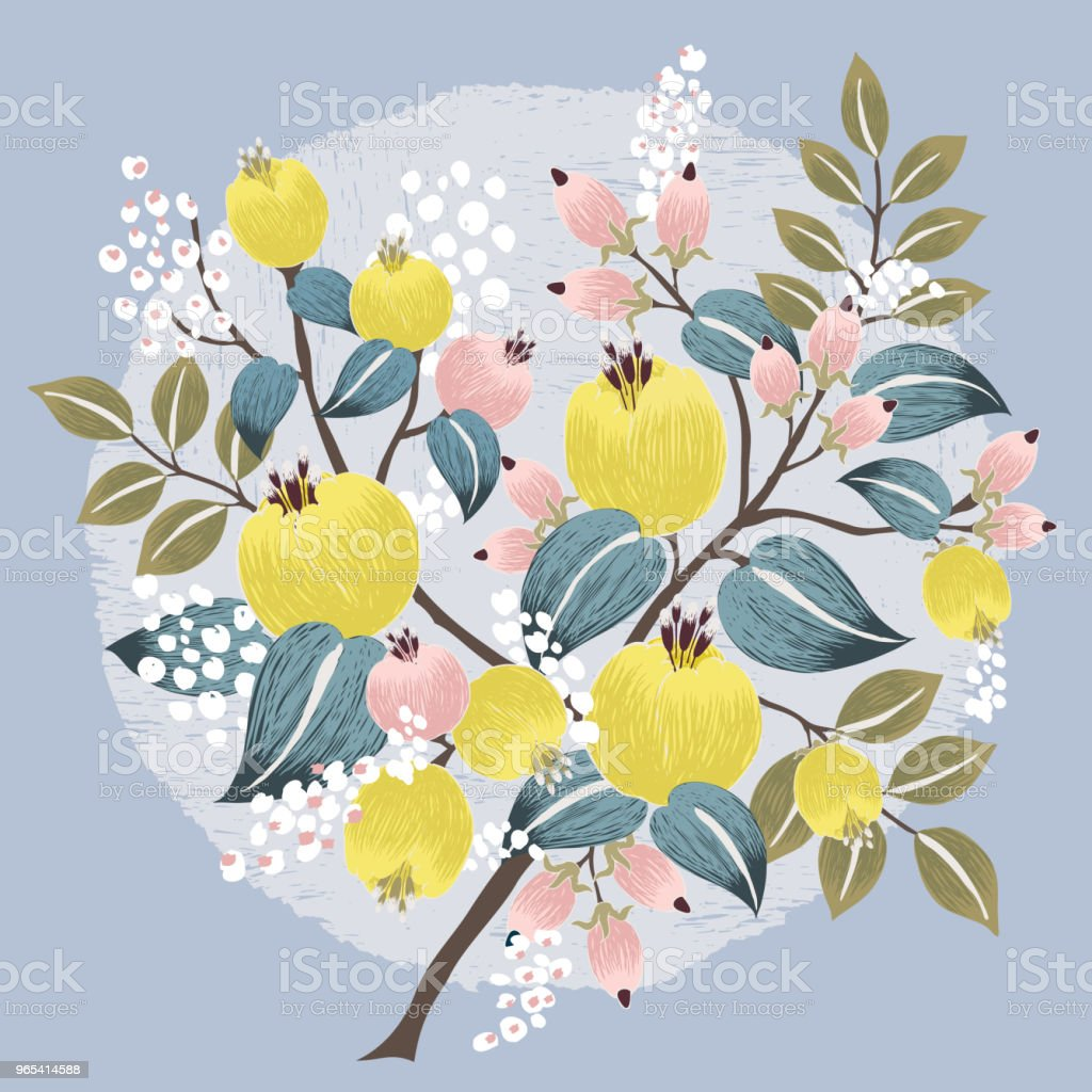 Vector illustration of a beautiful floral bouquet with spring flowers. - Grafika wektorowa royalty-free (Banner internetowy)