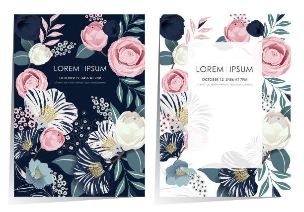 Vector illustration of a beautiful floral frame set in spring. Design for banner, poster, card, invitation and scrapbook birthday borders stock illustrations