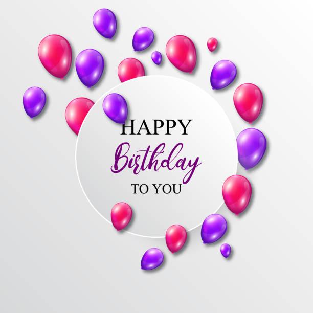 Vektor-Illustration einen Geburtstag mit Luftballons – Vektorgrafik