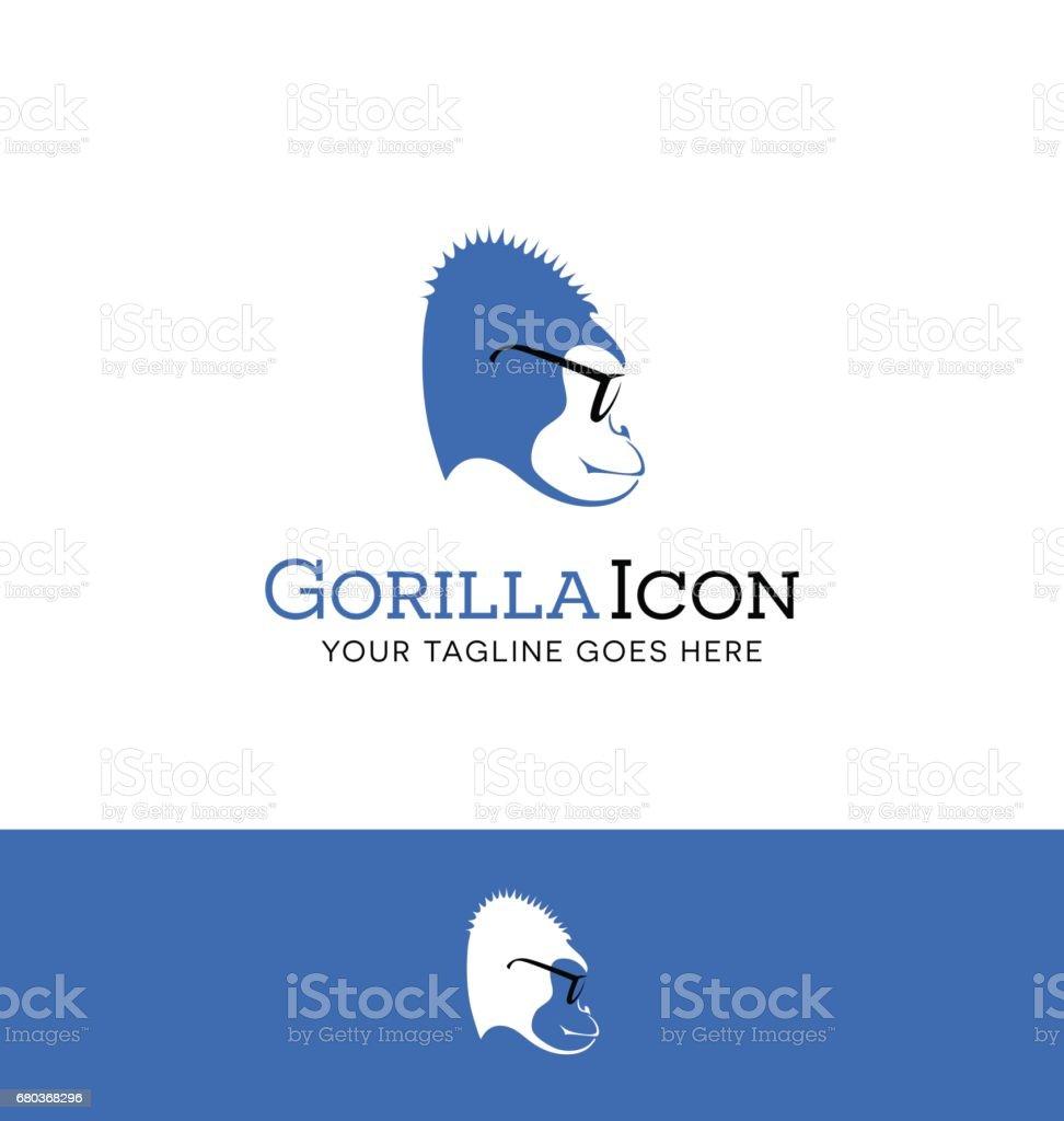 vector illustration of a blue gorilla wearing glasses royalty-free vector illustration of a blue gorilla wearing glasses stock vector art & more images of animal