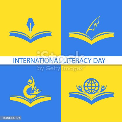 537761721 istock photo Vector illustration of a book for International Literacy Day. 1030390174