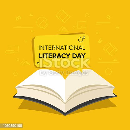537761721 istock photo Vector illustration of a book for International Literacy Day. 1030390196