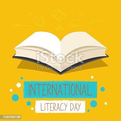 537761721 istock photo Vector illustration of a book for International Literacy Day. 1030390198