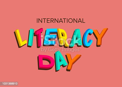 537761721 istock photo Vector illustration of a book for International Literacy Day. 1031368910