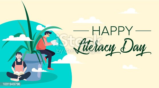 537761721 istock photo Vector illustration of a book for International Literacy Day. 1031949796