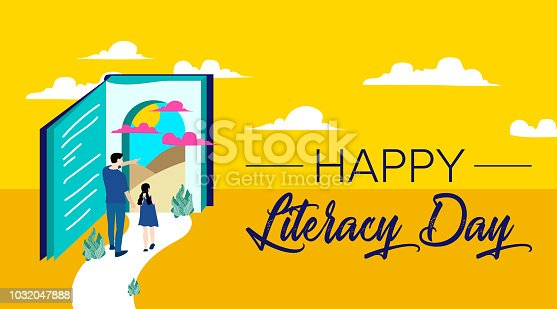 537761721 istock photo Vector illustration of a book for International Literacy Day. 1032047888