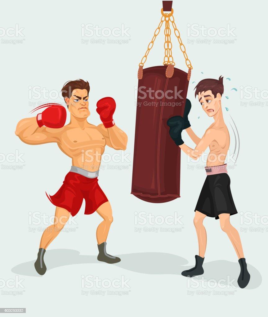 Vector illustration of a boxer vector art illustration