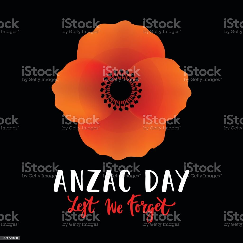 Vector illustration of a bright poppy flower anzac day symbol vector illustration of a bright poppy flower anzac day symbol royalty free vector buycottarizona
