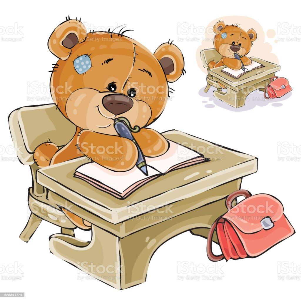 vector illustration of a brown teddy bear sitting at the student s rh istockphoto com Polar Bear Clip Art Your the Best Clip Art