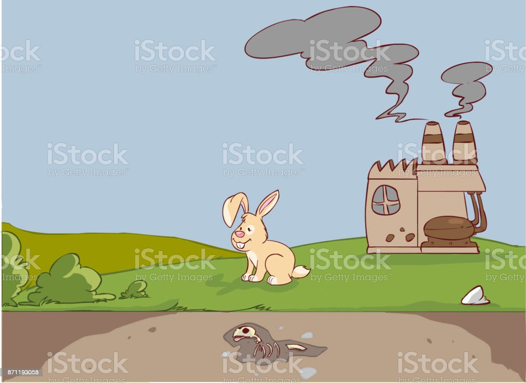 vector illustration of a carbon cycle vector art illustration