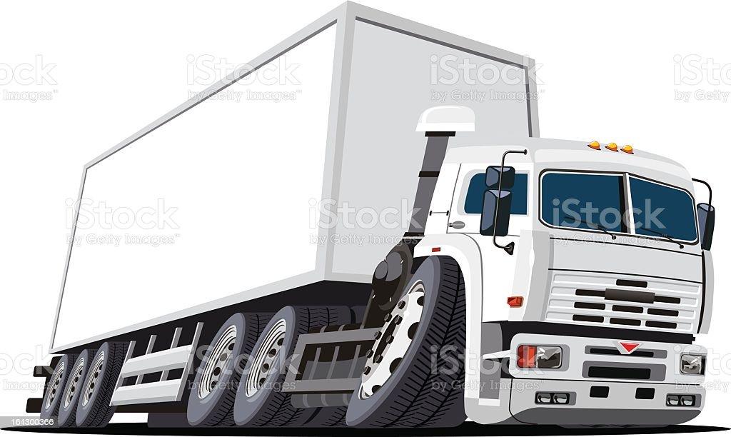 Vector illustration of a cargo truck royalty-free stock vector art