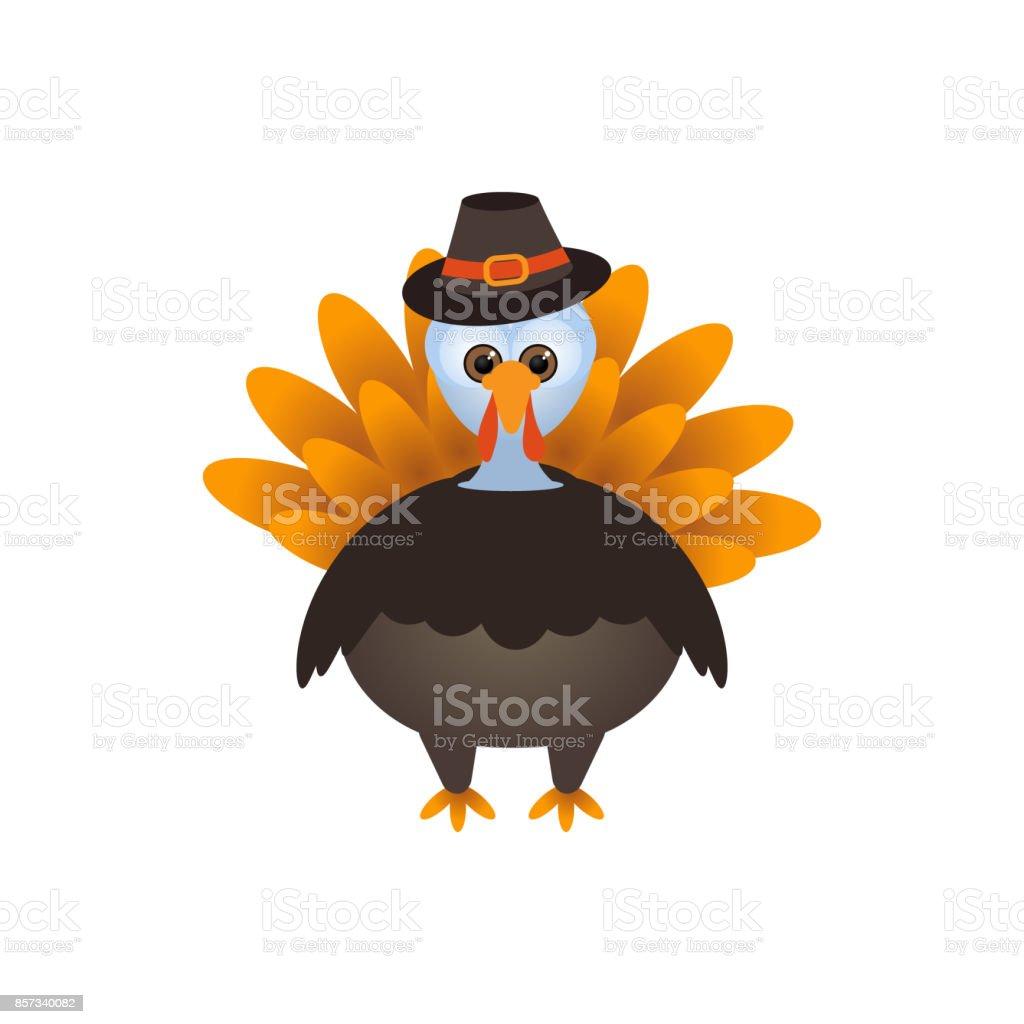 Vector illustration of a cartoon Thanksgiving Turkey vector art illustration