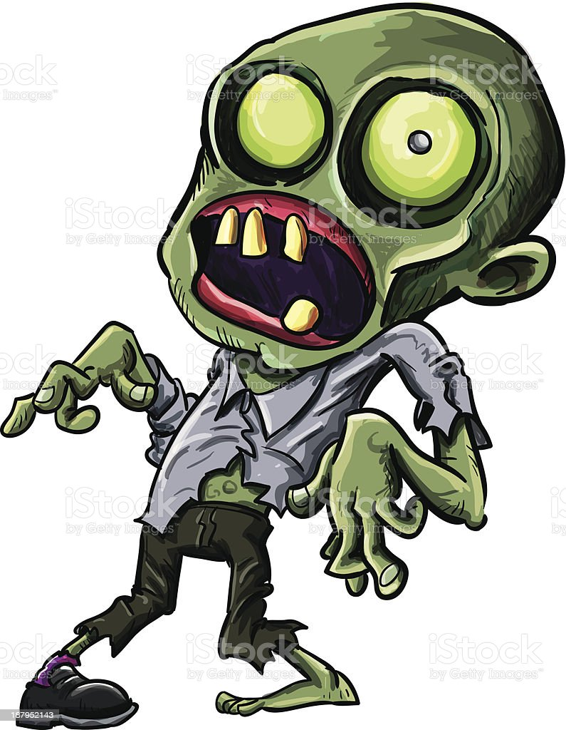 Vector illustration of a cartoon zombie royalty-free stock vector art