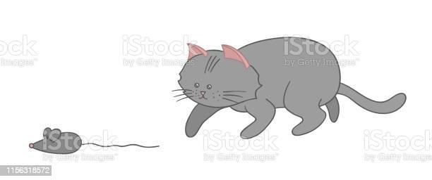 Vector illustration of a cat hunting a mouse cute kitten clip art vector id1156318572?b=1&k=6&m=1156318572&s=612x612&h=61 1s8iribw8bzjlazsva7sjijxknxivi5dealrow6y=