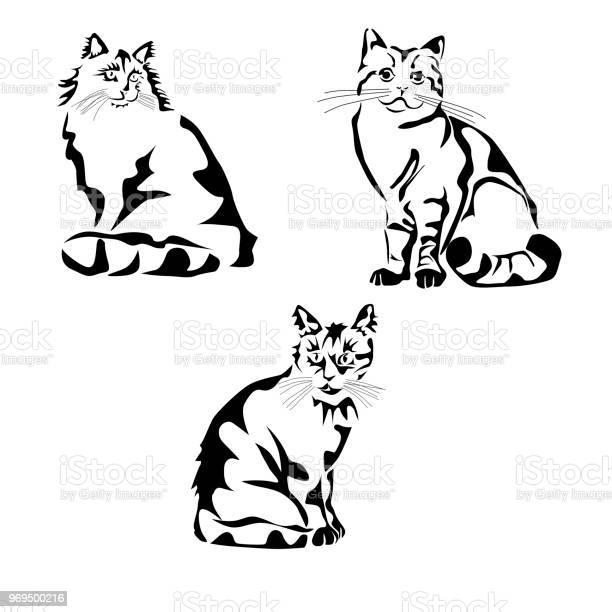 Vector illustration of a cat stencil tattoo vector id969500216?b=1&k=6&m=969500216&s=612x612&h=15xvnte1lmjprllmtng0q9l6 2u f5j o36y oo4vjg=