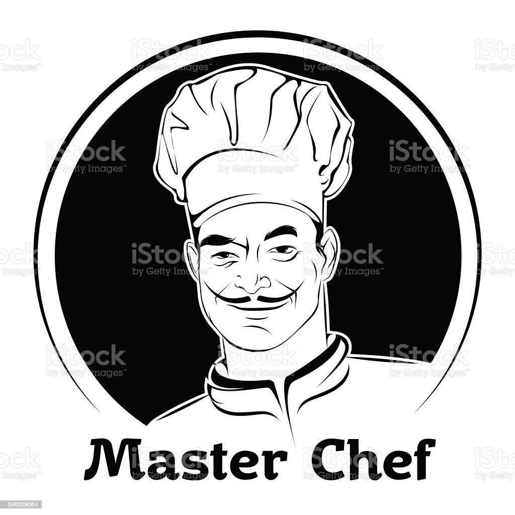 vector illustration of a chef in a cap royalty-free vector illustration of a chef in a cap stock vector art & more images of art