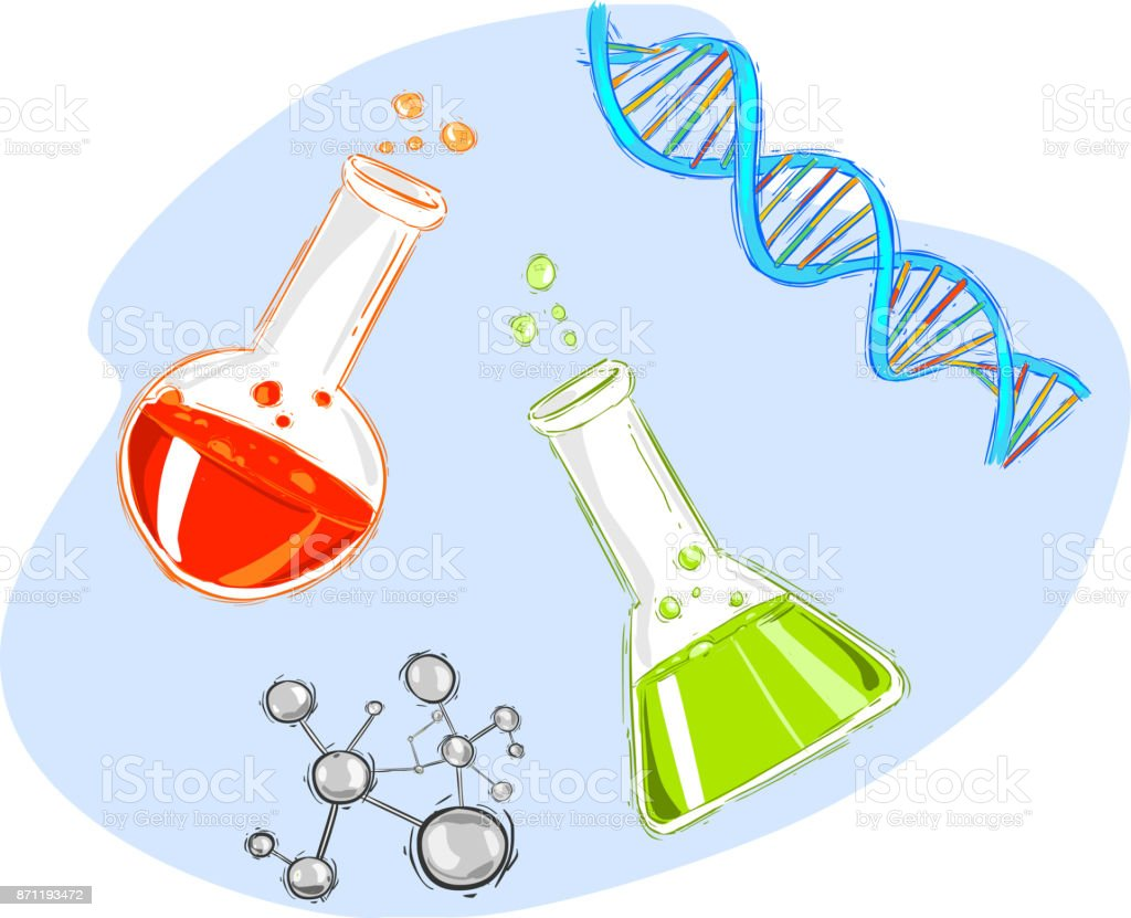 vector illustration of a chemical test tube vector art illustration