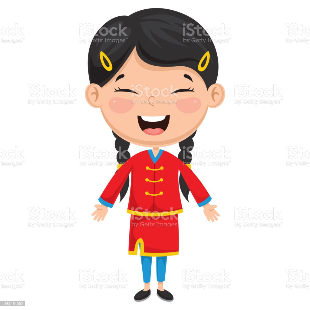 royalty free chinese new year gold frame boy and girl clip art rh istockphoto com chinese clipart girl chinese clip art free images
