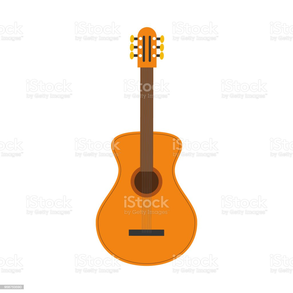 Ilustración de Ilustración De Vector De Una Guitarra Clásica En ...