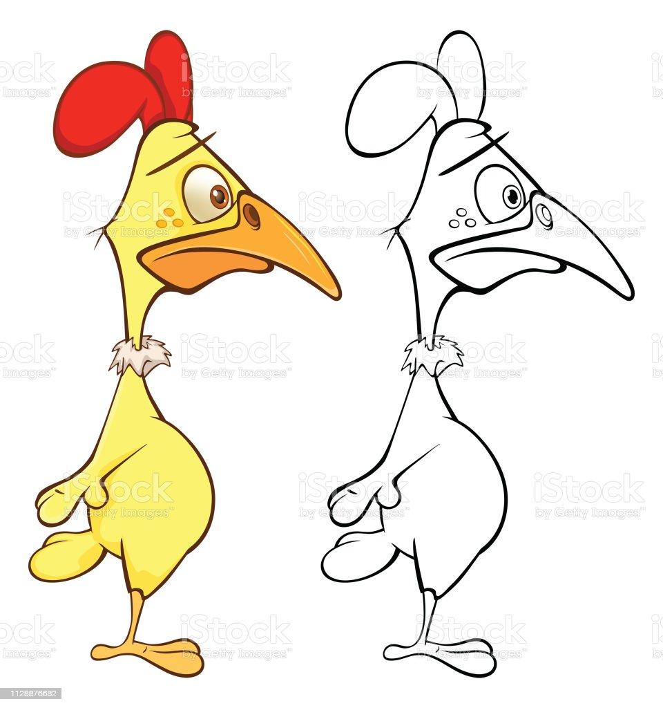 Ilustración De Vector Ilustración De Un Gallo De Carácter De Dibujos