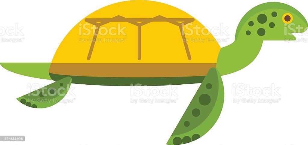 Vector Illustration Of A Cute Cartoon Turtle Stock Illustration