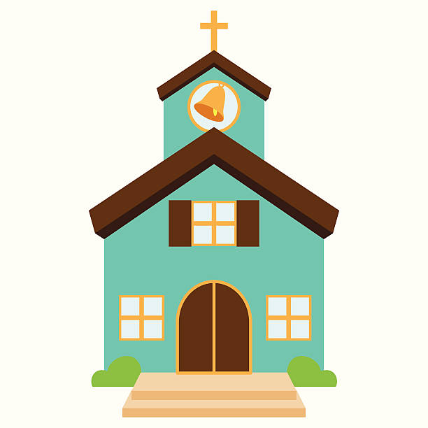 Vector Illustration of a Cute Church or Chapel Vector Illustration of a Cute Church or Chapel. No transparencies or gradients used. Large JPG also included. church stock illustrations