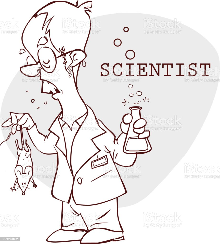 vector illustration of a  cute scientist illustration vector art illustration