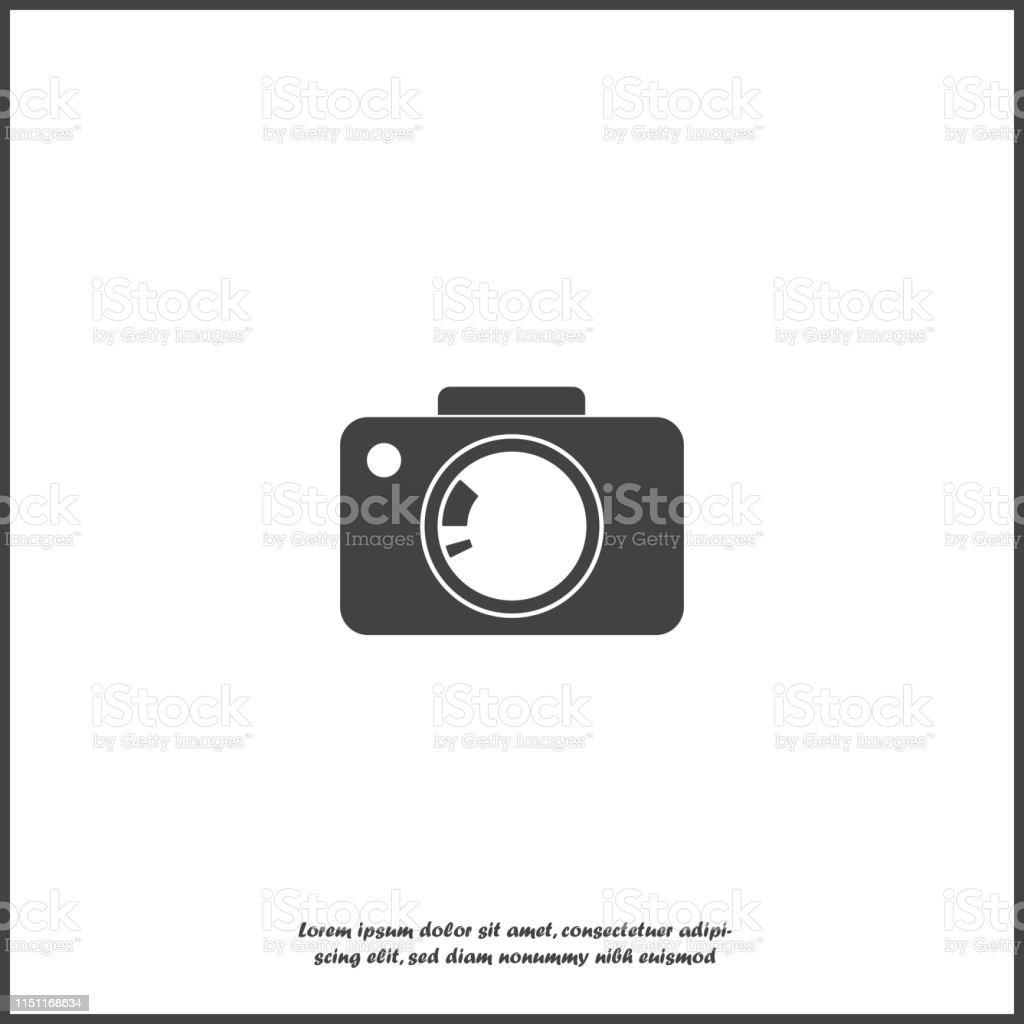 Vector Illustration Of A Digital Camera Retro Camera Icon On