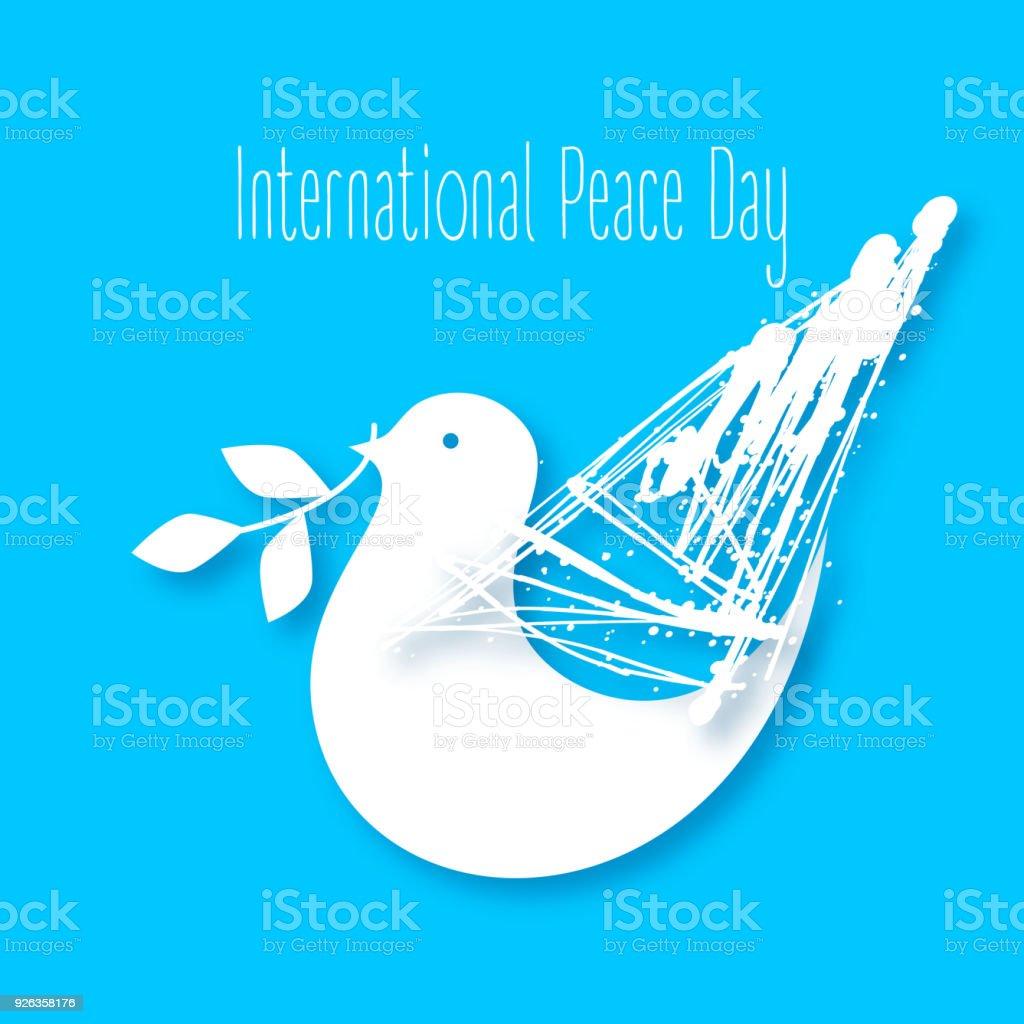 平和の鳩のベクター イラストで...