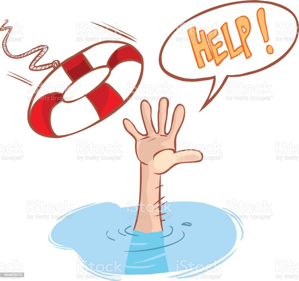 royalty free cartoon of a drowning clip art vector images rh istockphoto com girl drowning clipart drowning clipart free