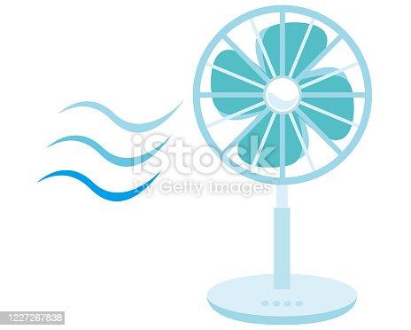istock Vector illustration of a fan,  Electric fan icon 1227267838