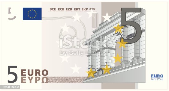 istock Vector illustration of a five Euro banknote 160518928