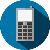 Vector illustration of a flat phone